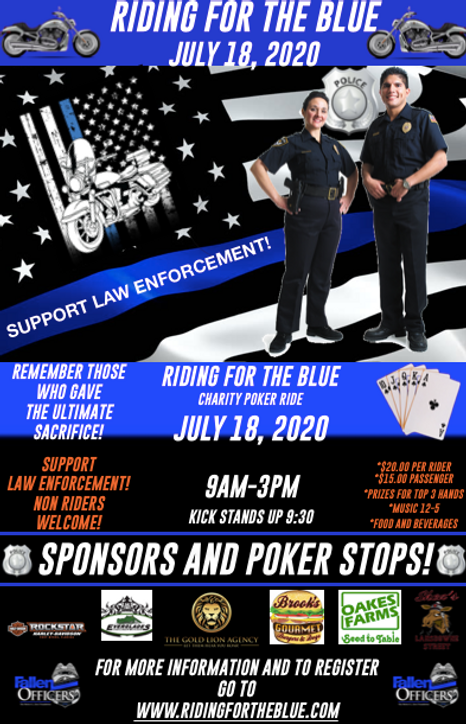 riding for the blue, the fallen officers