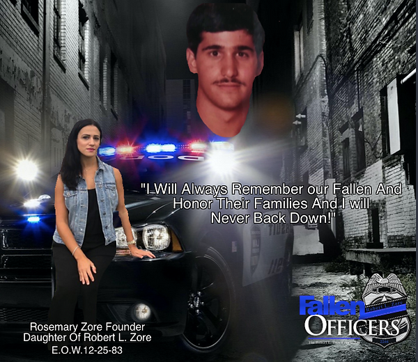 the fallen officers, Robert l zore found