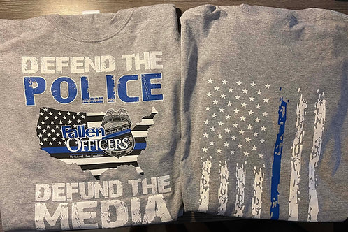 Defend The Police- Defund The Media Shirts