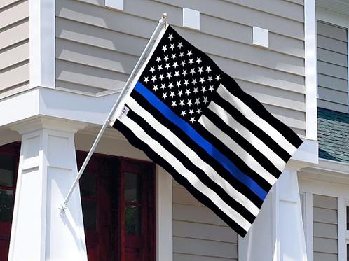 The Fallen Officers Blue Line Flag 3x5