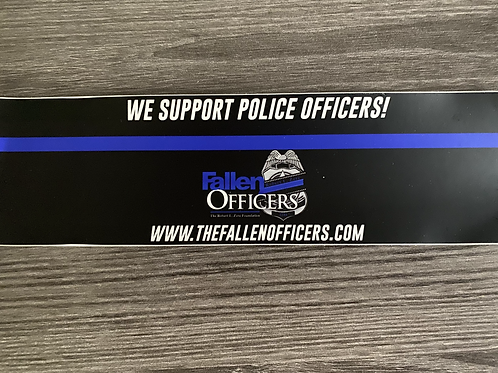 We Support Police Officers Bumper Sticker