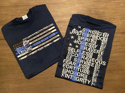 The Fallen Officers Navy Shirt