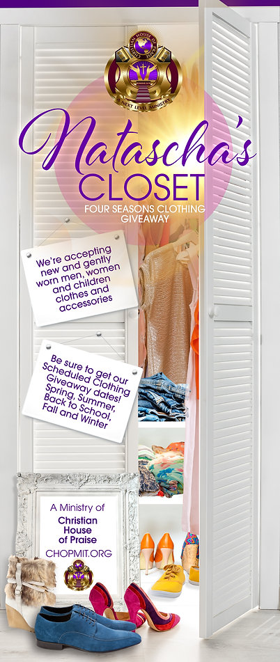 Natascha's Closet Clothing Giveaway Outreach Ministry