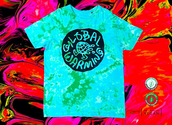 Global Warming Logo - Green Tye Die Tshirt