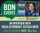 Caribou High School alumna, NASA astronaut, Jessica Meir on November 10th at 5 pm.