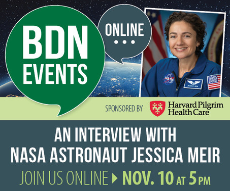 Caribou High School alumna, NASA astronaut, Jessica Meir on November 10th at 5 pm.