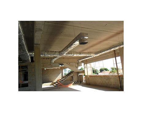 Sistema de distribuição de ar por zona com chapa de aço galvanizada e isolamento em lã de rocha