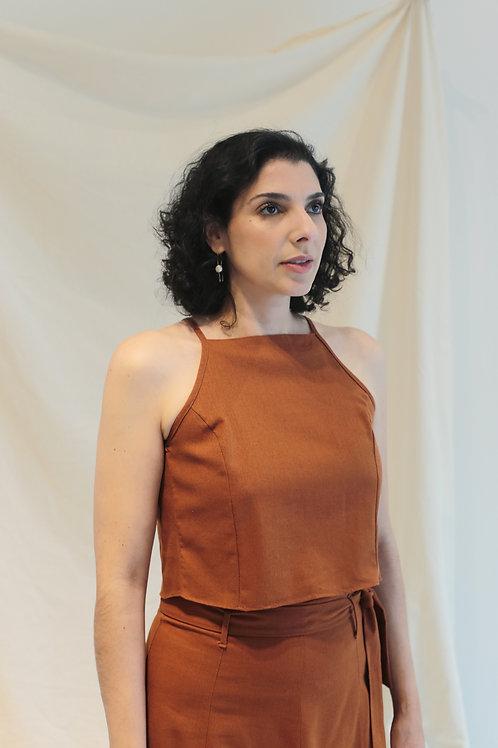 Regata Linho Croped - Outfit4You