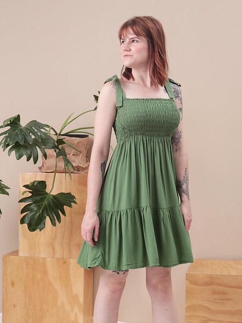Vestido Curto Franzido - Outfit4You