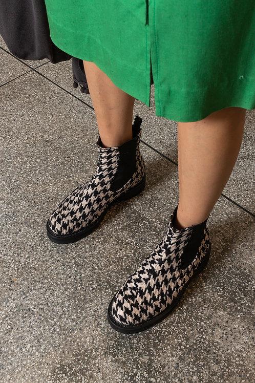 Bota Claire Pied de Poule - Fhérr Shoes