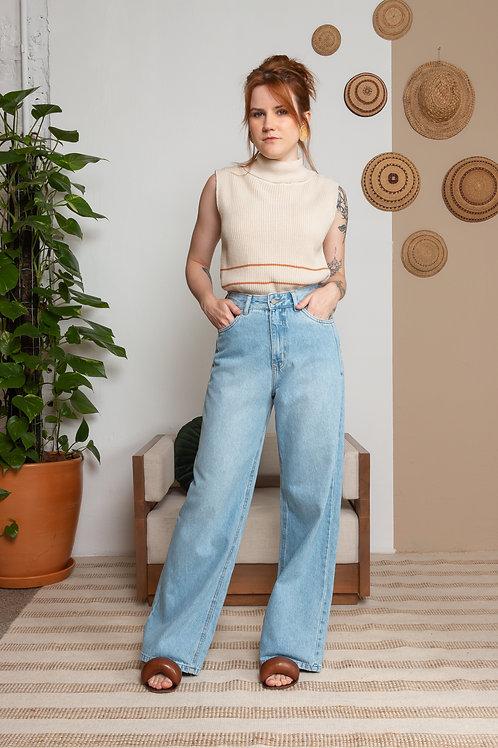 Calça Jeans Wide Leg - Outfit4You