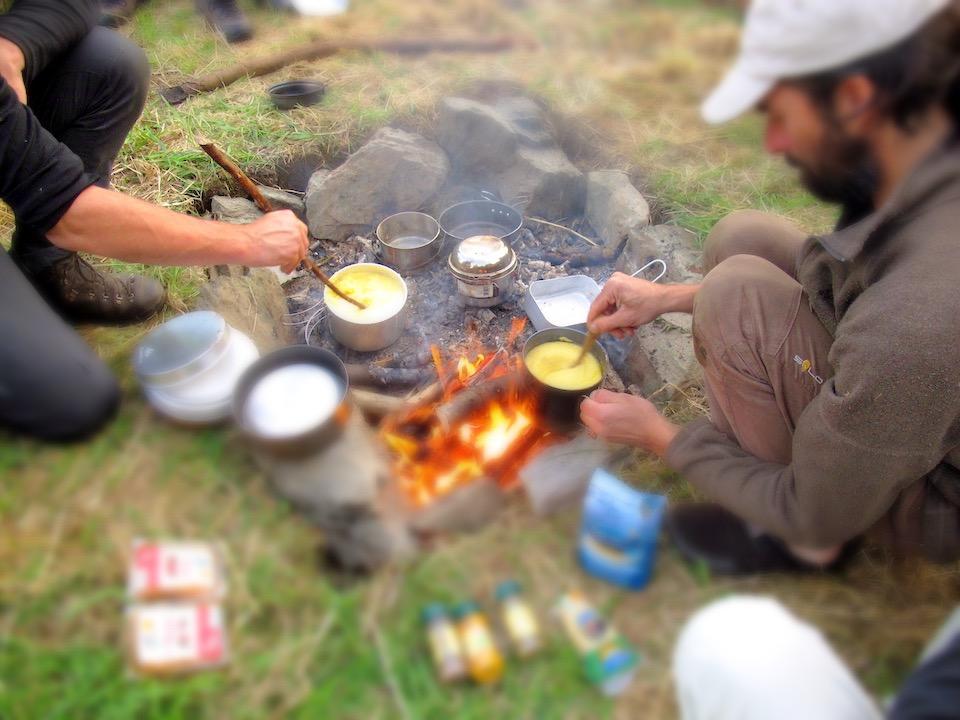 Cuisine sur le feu