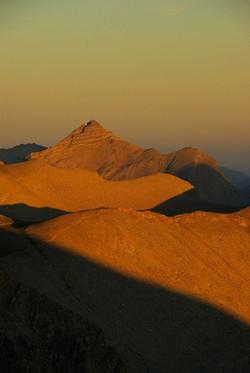 Soleil couchant sur l'Estrop, Parc National du Mercantour (Alpes françaises)