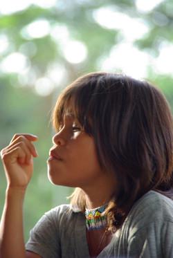 Jeune fille Embera de Colombie