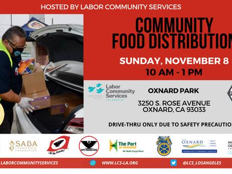 Oxnard Food Distribution SUNDAY, NOVEMBER 8th at OXNARD PARK 10am-1pm