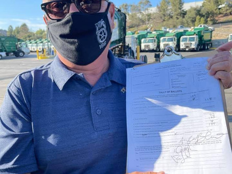 WASTE MANAGEMENT IN SIMI VALLEY VOTES UNION YES! JOINS LOCAL 186
