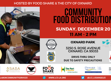 TEAMSTERS 186 BACK AT IT AGAIN! FOOD DISTRIBUTION DECEMBER 20th from 11am-2pm at OXNARD PARK