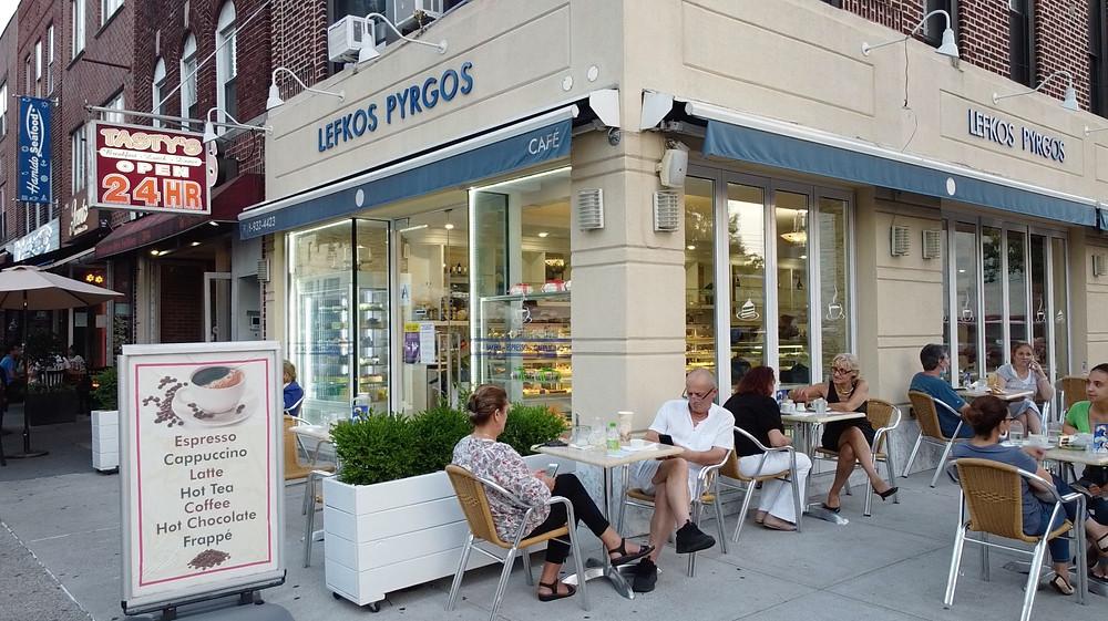Lefkos Pyrgos Café, Astoria, New York