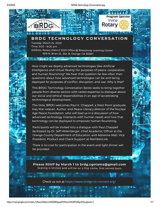 2020 - BRDG Technology Conversation Invv