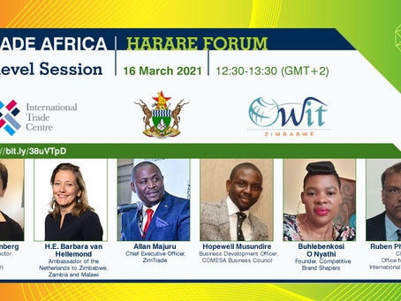 OneTrade Africa:Harare Forum Hybrid Webinar 16 March 2021:Brought to you by WTO ITC & OWIT Zimbabwe