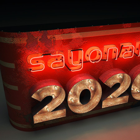 3D rendering of GOOD BYE to 2020