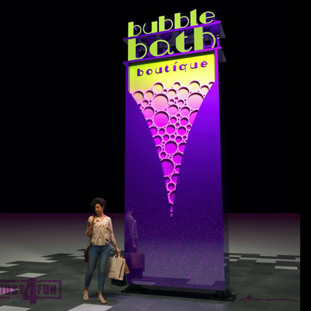 3D rendering of BOUTIQUE pylon sign