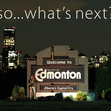 City of Edmonton Welcome Sign 3D scene developed by Graphic designer in Edmonton Martin Yatzko
