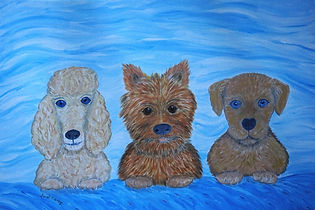 #Puppy Pals #cute #pups #dogs#painting#artfor sale