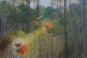 #antelopes#rainforest#jungle#art#painting#canvas