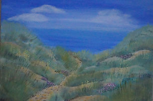 sandy dunes original hand painted canvas