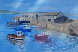 Harbour Lymregis harbour painting for sale canvas art