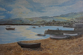 #teignmouth#beach#shaldon#boats#art#painting#framed