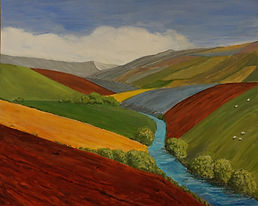 #Exe#Valley#View#landscape.contemporary#canvas