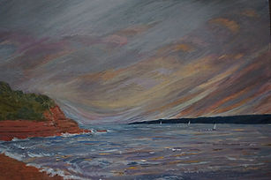 #Orcombe #Point#exmouth#art#painting