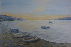 #EbbTide#seascape#art#painting#boats#sunset#sunrise#artgallerySW site.jpg