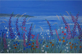 #Flowers On The #Coast#seascape#wildflowers#modern#contemporary#art