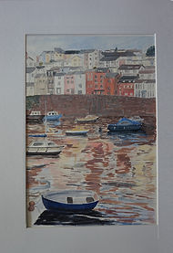 #Brixham#harbour#boats#art#paintings Mounted