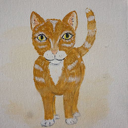 Charlie Cat painting
