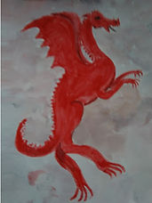 red dragon.illustration artjandavies.com painting