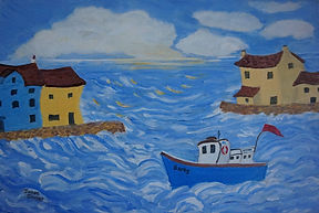 Berty In The Bay quirky whimsical art
