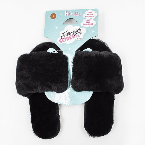 Real Shearling Fur Hard Sole Slide on Slippers Indoor/Outdoor