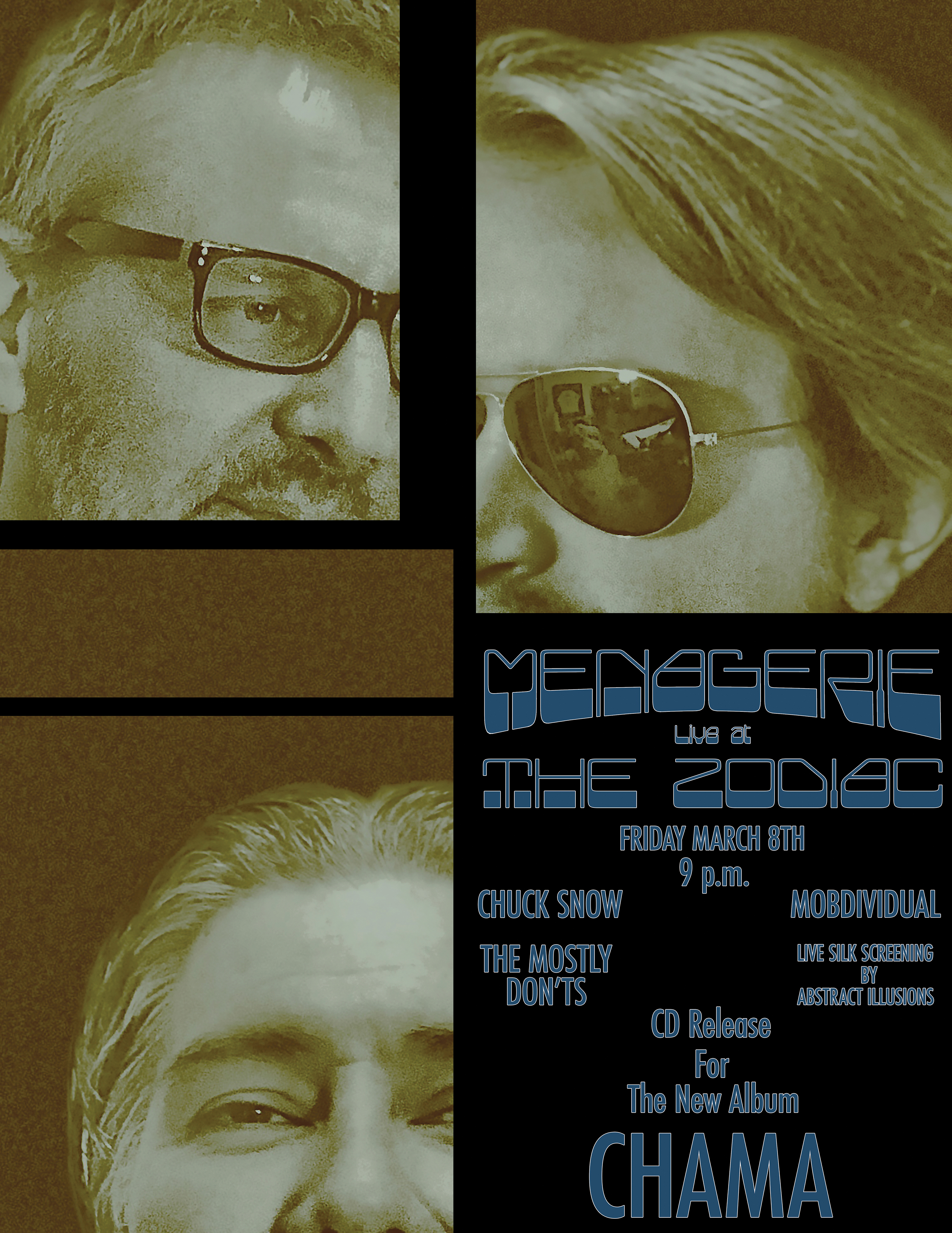 Menagerie Cd Release Poster All Three 8