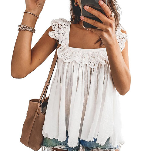 Lacy Ruffles Blouse