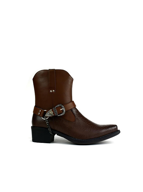 Brown Western Boot w/ Bling