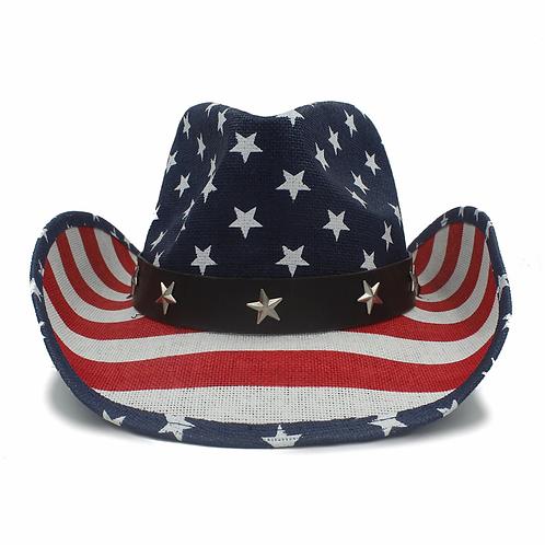 Love America Straw Cowboy Hat