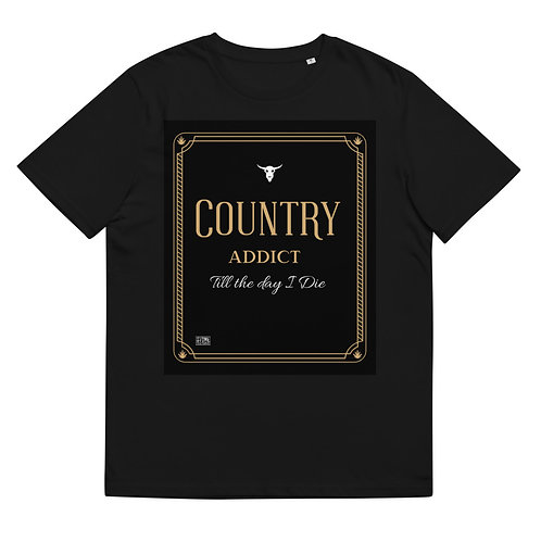 Country Addict Unisex organic cotton t-shirt