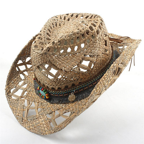 Exquisite Hand Woven Western Hat w/ Bling