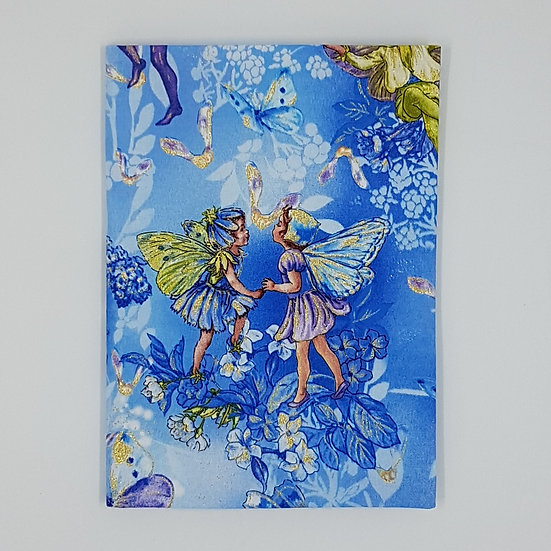 Plunket Well Child Cover Fabric NZ Hemmingbird Flower Fairy Periwinkle