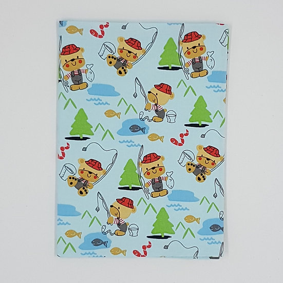 Plunket Well Child Cover Fabric NZ Hemmingbird Bears Fishing