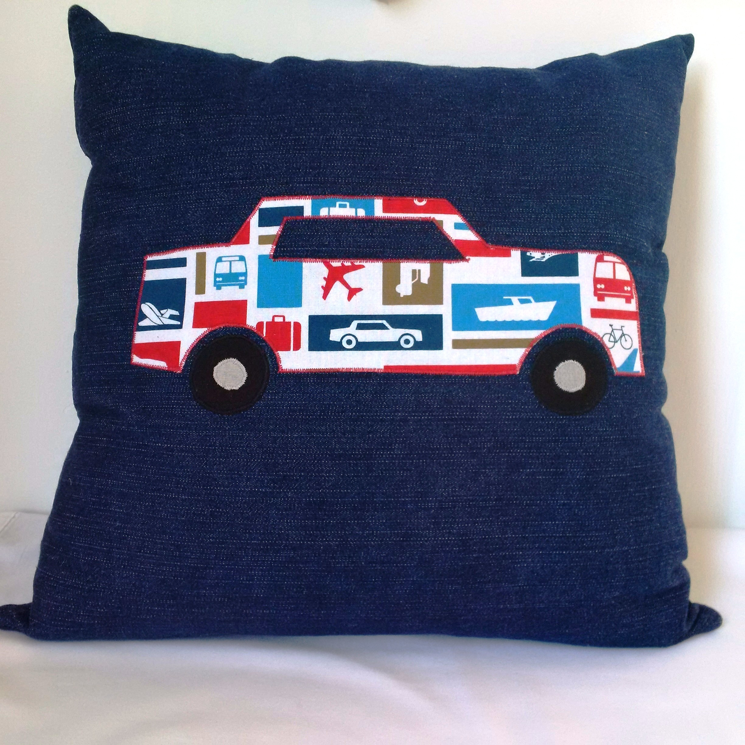 Cushion denim car